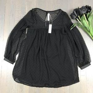 NWT T-BAGS Los Angeles Babydoll Long Sleeve Dress